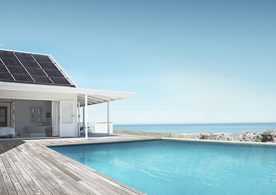 Home With Solar Pool Heating